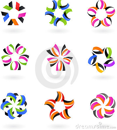 Set of abstract icons and logos #4 -  design