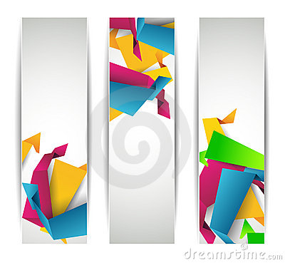 Set of abstract modern header banner