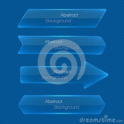 Set of abstract modern style glossy banners