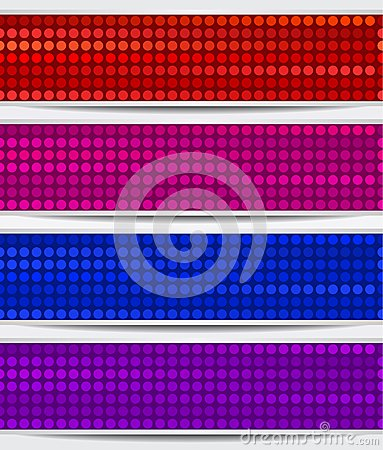 Set Of Abstract Mosaic Banners
