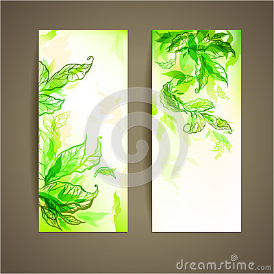 Set of abstract natural card