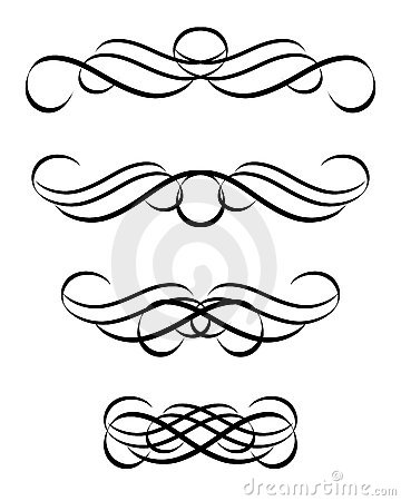 Set of abstract ornament in vintage style. Vector-