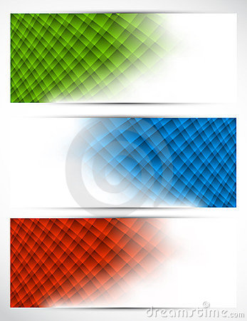 Set of abstract tech banners