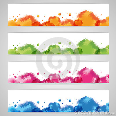 Free Set Abstract Watercolor Background Royalty Free Stock Photos - 31205208