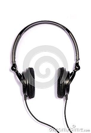 Black adjustable headphones