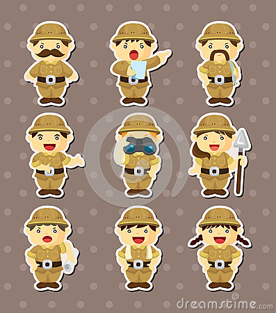 Set of Adventurer people stickers