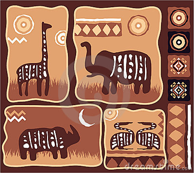 Set of African Design Elements