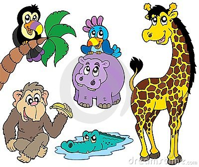 Set afrikanische Tiere 2