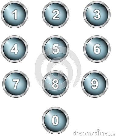 Set of alphabet buttons