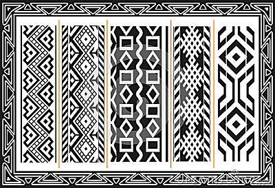 Set alte indianische Muster