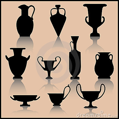 Set of ancient ceramics