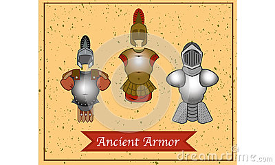 A set of ancient warrior armor.