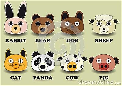 Set animal face