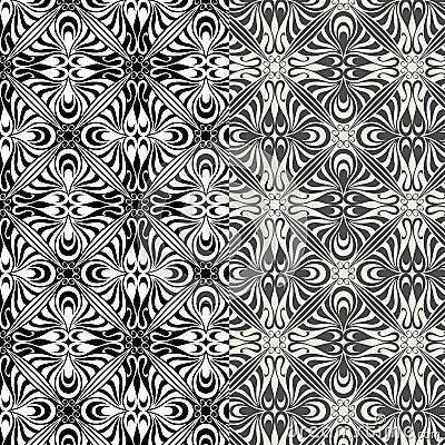 Set of art nouveau patterns