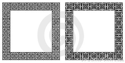 Set of art nouveau simple  frames