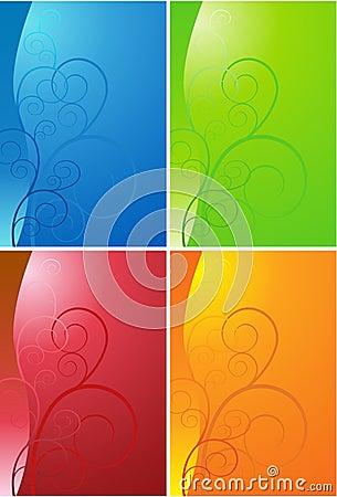 Set of Artsy Swirls Background