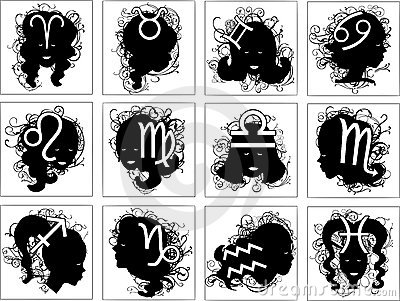 Set of astrology symbols