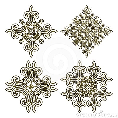 Set aztec ornaments