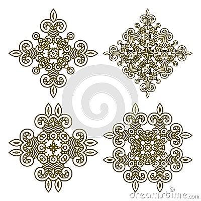 Set aztec ornaments
