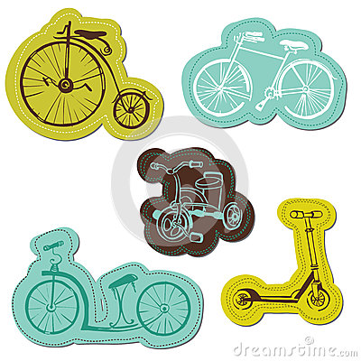 Set of Baby Bike Stickers
