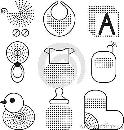Set of babys symbols