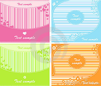 Set of backgrounds
