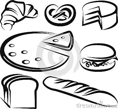 Set of baking items