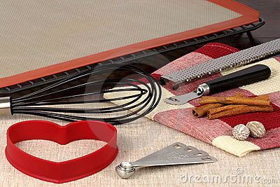 Set of baking utensils