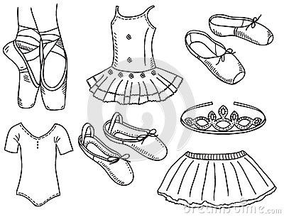 Set of ballerina accessories