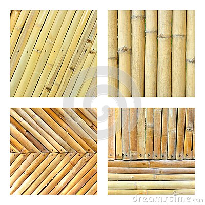 Set of bamboo fence