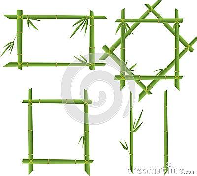 Set of bamboo frames