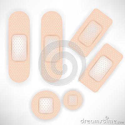 Set of bandages