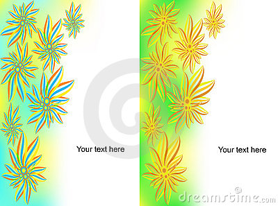 Set of banners from flowers