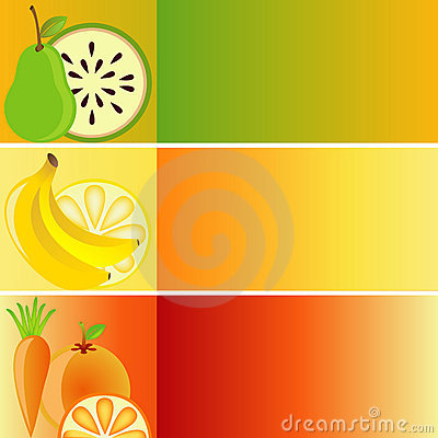 Set of Banners: Fruit Theme