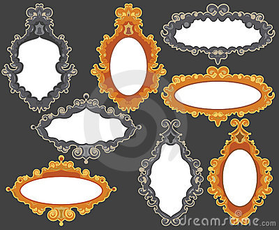 Set of baroque frames