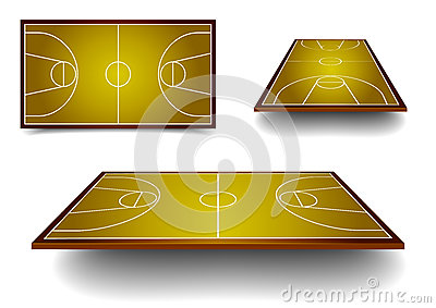 Set basketball court