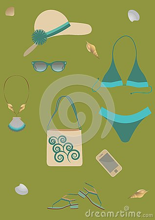 Set for beach.