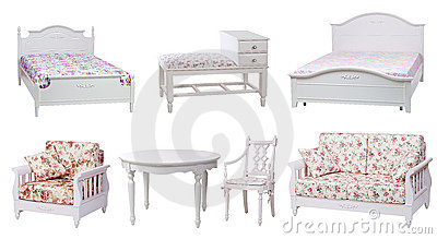 Set of bedroom and living-room furniture