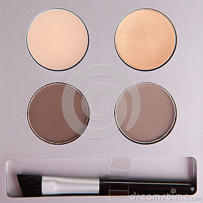 Set of beige eyeshadows
