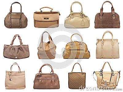 Set of beige female bags-1