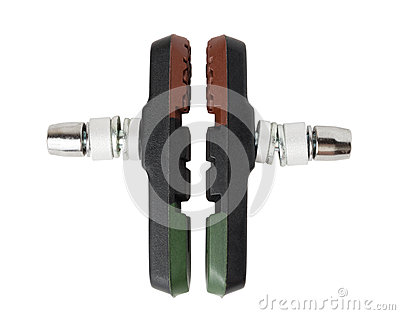 Set of bicycle brake pads from composite material (for V-brake)