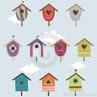 Set of bird houses
