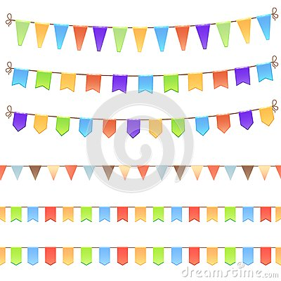 Set of birthday flags