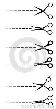 Set of black scissors