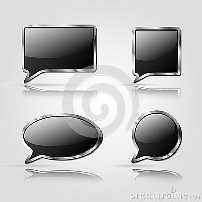 Set of Black speech bubbles