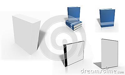 Set of blank 3d box