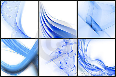 Set of blue abstracts
