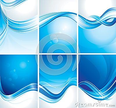 Set of Blue Background