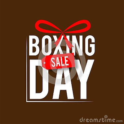 Set of boxing day sale symbol or icons. Calligraphic design of boxing day sale Cartoon Illustration