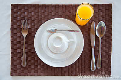 Set of breakfast tableware